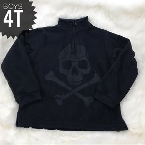 [greendog] Skull Fleece Pullover Size 4T